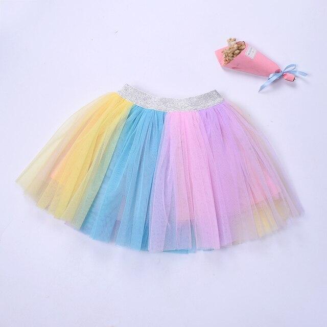 06d317be New Kids girls rainbow tutu skirt Unicorn designed tulle skirt Birthday  wedding party clothes Skirt for girl