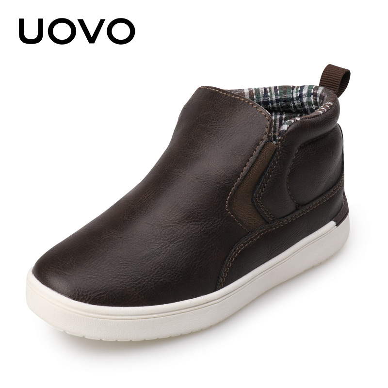 UOVO Brand 2018 Autumn Kids Shoes Boys High Top Sneakers Children Shoes Boys For Cchool Casual Spring Toddler Boy Shoes Leather boys shoes children shoes casual kids sneakers leather sport fashion children boy sneakers 2018 spring summer autumn