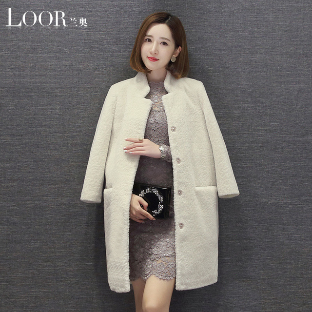 100% wool coat mouton Coat female jacket women's jacket fur coat ...