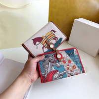 Famous Brand 2019 Newest Horse Genuine Cow Leather Wallet Women Purse Carteira Porte Feuille Femme Sac Femme Real Leather Cuzdan
