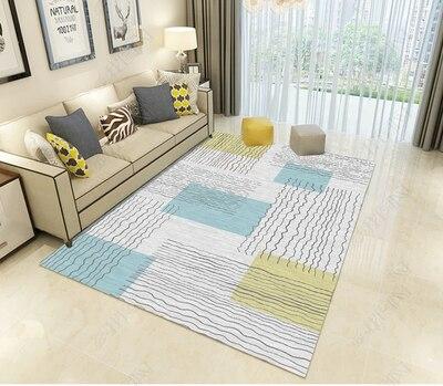 Flanelle tapis pour salon anti-dérapant tapis chambre chevet tapis doux enfants chambre tapis bureau chaise tapis de sol
