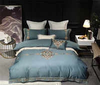 4/7pcs Luxury European Royal Embroidery Egyptian Cotton Bedding Set Duvet Cover Bed Sheet Bed Linen Pillowcases Queen King size