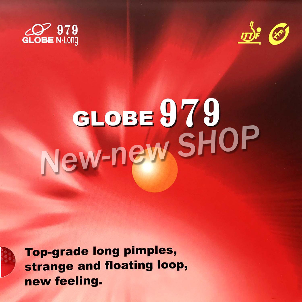 Globe 979 Long Pips-Out Table Tennis PingPong Rubber With Sponge