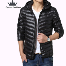 2017 europe new popular fashion leisure hoodies coat Men s duck down jacket
