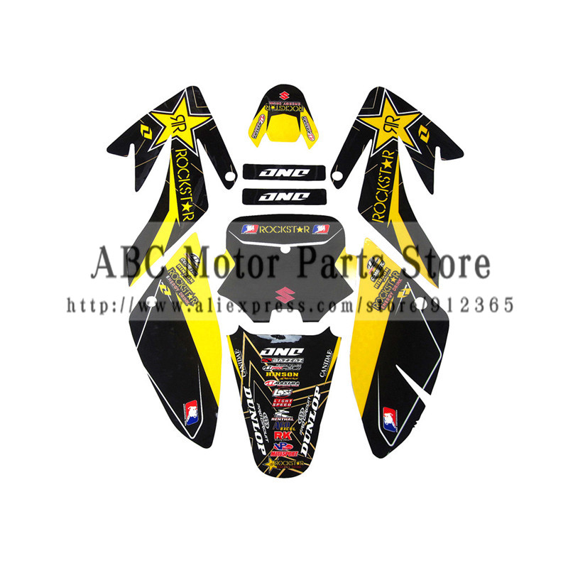 3M Decals Emblems Stickers Graphics For CRF70 Clone CRF70 Pit Dirt Bike Kayo BSE