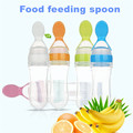 2016 New Clear Soft Safe Non-toxic Silicone Gel Baby Kids Child Feeding Spoon Spoon Plus Dropper Type Tableware 6 colors