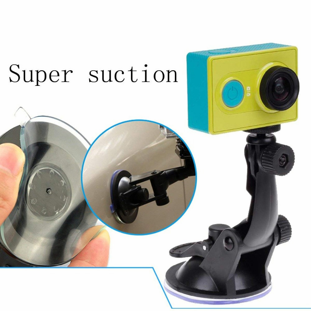 Glass Suction cup action camera sport Cam Tripod Mount for car DVR holder stand Bracket for gopro hero 7 6 5 4 yi2 accessories   (5)