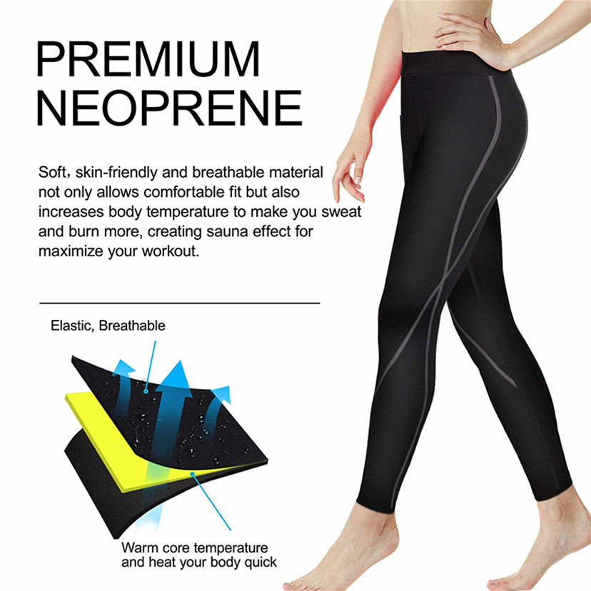 TONGGUO Women's Elastic Control Pants Shaper Neoprene Slimming Trousers Workout Waist Shapewear Reducing Body Shapers Corrective