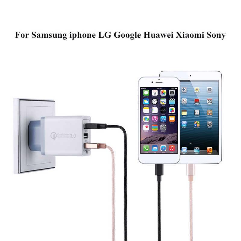 1 m Type c usb pour samsung galaxy S8 S9 S10 A3 A5 A7 2017 LG G5 G6 V30 & 9 V 12 V Charge rapide QC 3.0 18 W adaptateur USB chargeur rapide