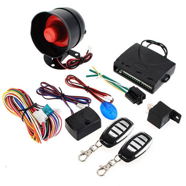 LED Indicador de Aviso Identificação Anti-seqüestro Sistema De Segurança Alarme de Carro Keyless Entry Siren 2 Controle Remoto