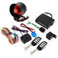 LED Indicator Warning Identification Anti-hijacking Car Alarm Security System Keyless Entry Siren 2 Remote Control