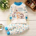 Free Shipping 2017 New Baby Wear unisex Pajamas Children's Cartoon Pyjamas Suits Kids Printed Sleepwears Home Clothing