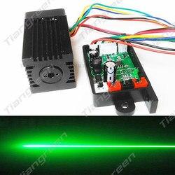 Tgleiser Focusable 532nm 200mW zielony moduł laserowy 12V RGB światło sceniczne akcesoria TTL miniurządzenie laserowe darmowe okulary w Oświetlenie sceniczne od Lampy i oświetlenie na