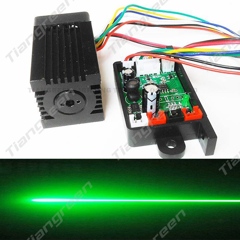 Tgleiser Focusable 532nm 200mW Green Laser Module 12V RGB Stage Light Accessory TTL Mini Laser Machine Free Glasses