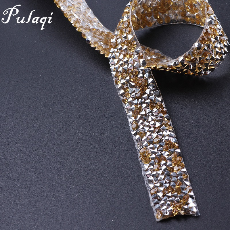 Dropwow Pulaqi 1 Yard  15mm Clear Crystal Mesh Hot Fix Rhinestones ... da586314eb5c