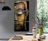 Black Friday buddha art canvas Wall art buddha Picture landscape Canvas painting Modern living room Decorative unframed F008