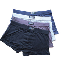 Mens Bamboo fiber Underwear Sexy Pure color Boxers Boxer shorts Mixed Color order
