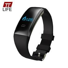 TTLIFE Hombres Mujeres Reloj Inteligente Oxígeno Monitor de Presión Arterial Heart Rate Monitor Deportes Wristband Unisex Pulseras Android iOS B2