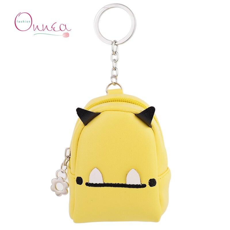 Onnea Mini Coin Purse Wallet Keychain Candy Color Keyring Women Handbag Charms Pendant Purse Coin Holder Car Key Chains Gift