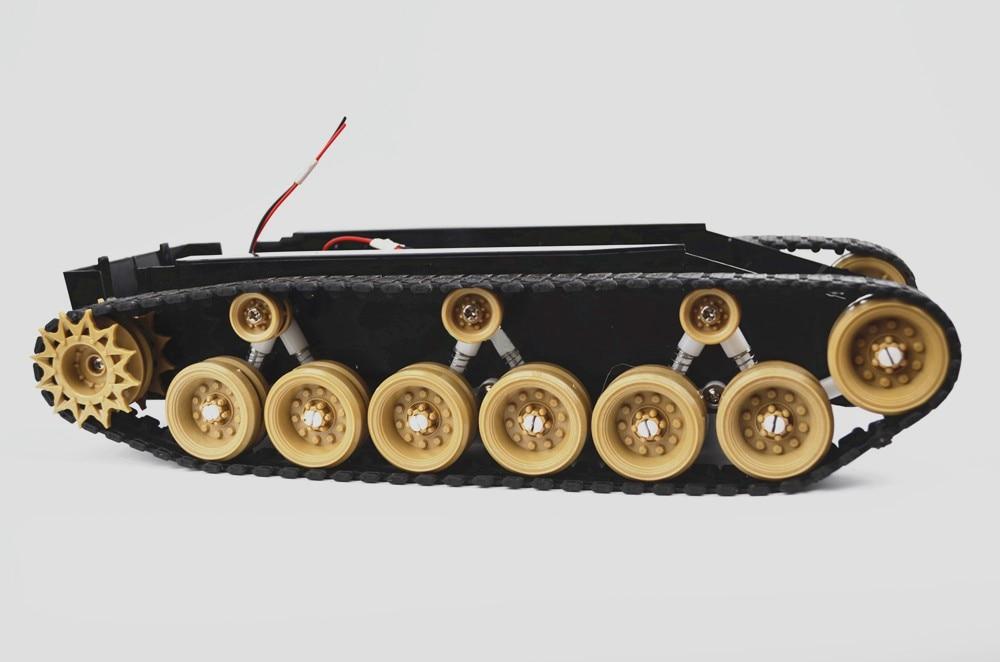 все цены на Damping Balance Tank Robot Chassis Platform with High power Remote Control DIY Crawler Shock Absorption for Arduino DIY RC Toy