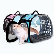 Staccabile Pet Cat Carrier Sacchetto di Corsa All'aperto Cucciolo Del Gatto Del Cane di Trasporto Forniture per I Gatti Kedi Gattino Borse a Spalla transporte gato
