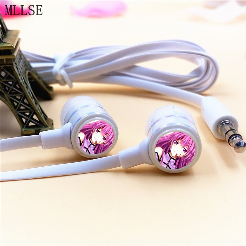 MLLSE Anime Akame ga KILL Night Raid Mine In-ear Earphone 3.5mm Stereo Earbud Phone Music Game Headset for Iphone Samsung MP3 10pcs carbide inserts wrench with s12m sclcr09 scmcn sclcr sclcl1212h09 tool holder for lathe turning tool