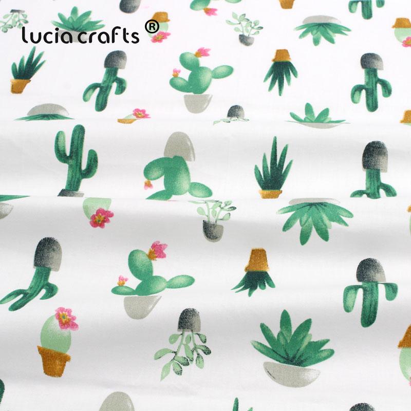 Lucia crafts 1piece/lot Cactus Stripe Cotton Fabric Printed Patchwork DIY Child Cloth Sewing Fat Quarters Materials I03C3G03C 2