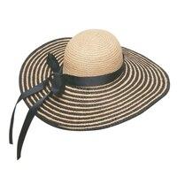 Toptan 10 adet Güzel Bayanlar Büyük Ağız Plaj Güneş Hasır Şapka kadın Yaz Büyük Şerit Rafya Saman Geniş Kenarlı Caps Womens şapka