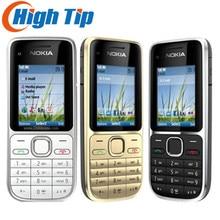 """Разблокированный мобильный телефон Nokia C2-01 C2 2,"""" Мп Bluetooth русская и арабская клавиатура GSM/WCDMA 3g телефон Восстановленный"""