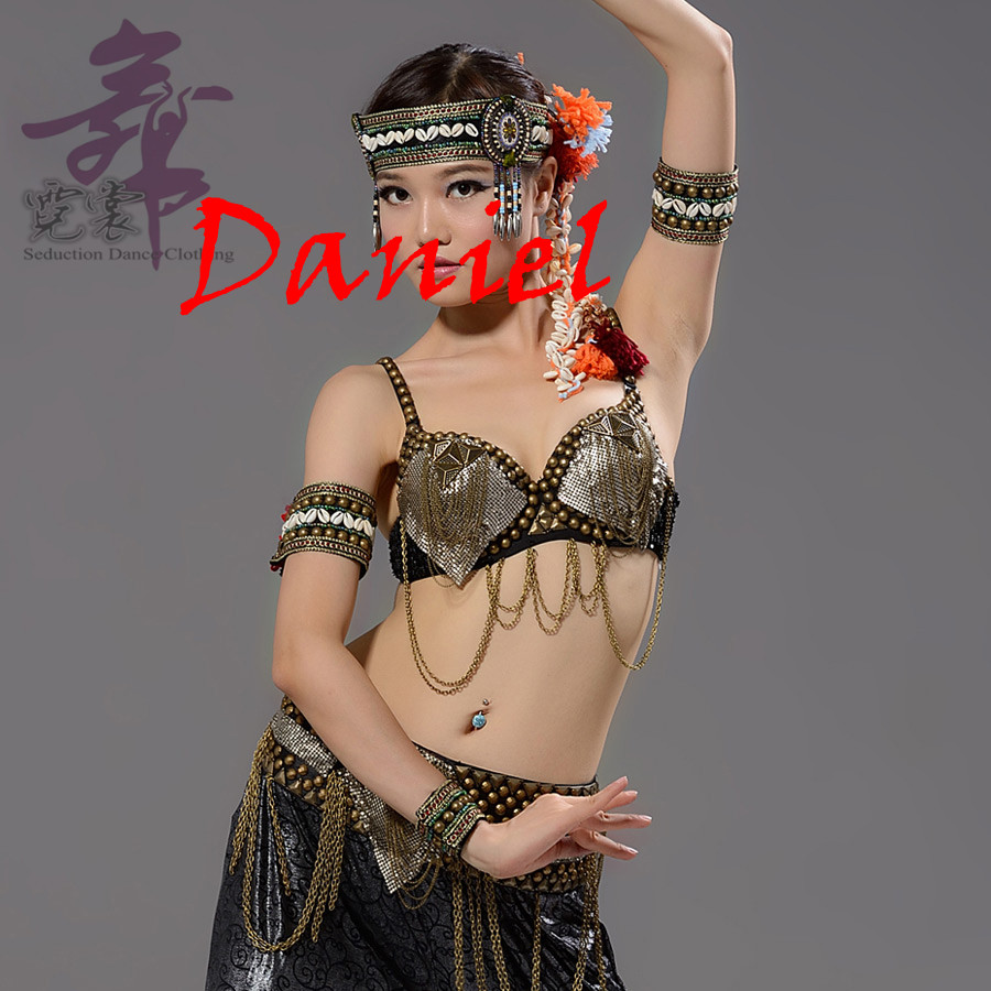 Ethnic Tribal Belly Dance Costume Accessories 2 Pieces Set Beads