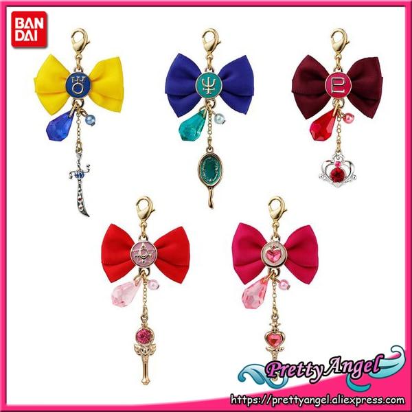 PrettyAngel-Original Bandai Shokugan marin lune papillon ruban breloque Part.2 porte-clés lot de 5 pièces
