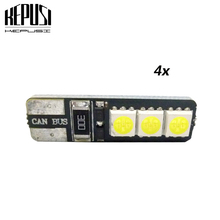4X T10 LED Car Light Canbus 194 W5W Auto Bulbs Styling For Fiat Grande Punto honda accord civic2008 jazz city fit