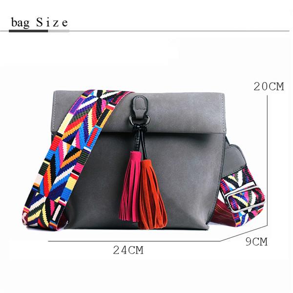 EXCELSIOR Women's Bag Scrub PU Crossbody Bags Luxury Handbags Women Bags Designer bolso mujer Colorful Strap sac a main femme 3