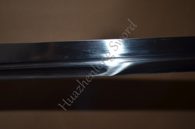 Hand forged red 1095 High carbon steel japanese samurai ninja real sharp sword full tang can cut bamboo tree