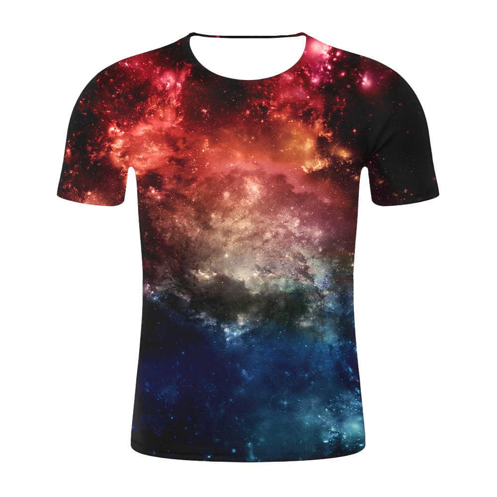 Космическая галактика футболка для мужчин 3d футболка Веселая модная летняя футболка с принтом футболки больших размеров с круглым вырезом и принтом уличная Прямая поставка