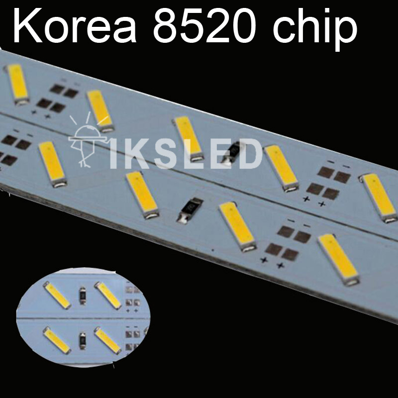 hot sales 1m*10pcs Super Bright Hard Rigid Bar light DC12V 72 led SMD 8520 Aluminum Led Strip light+aluminium+cover