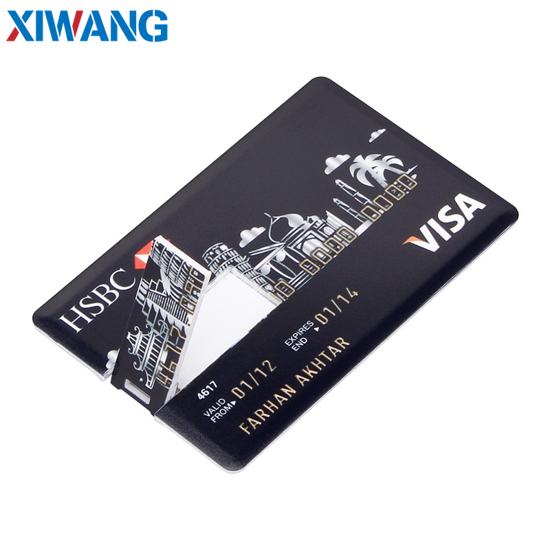 pendrive Bank Credit Card u disk new Waterproof Memory Stick drive 4GB 8GB 16GB 32GB 64GB 128GB USB Flash Drive free custom logo (10)