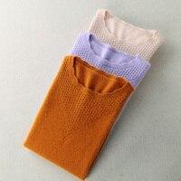 Automne et Hiver Nouveau Chandail Pull En Cachemire Femmes tricoté basant la chemise solide Couleur de lapin grandes verges de Chandail