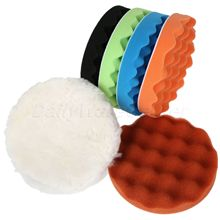 8Pcs 5″/6″/7″ Polishing Waxing Buffing Sponge Pads Kit Compound Car Polisher +M10/M14 Thread Adapter Auto Car Wash 125/150/180mm