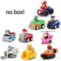 6/7/9 Uds. Paw Patrol cumpleaños lote juguetes perro trasero coche psi patrol figura de acción patrulla canina juguete de plástico Anime niños juguete de regalo