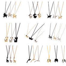 купить Geometry stereo animal necklace pegasus rabbit baby elephant short necklace fashion clavicle necklace The girl accessories онлайн