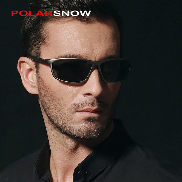 POLARSNOW Aluminum Magnesium Polarized Sunglasses Men's Driver Sunglass Mirror Driving Sun Glasses Day Night Vision Eyewear