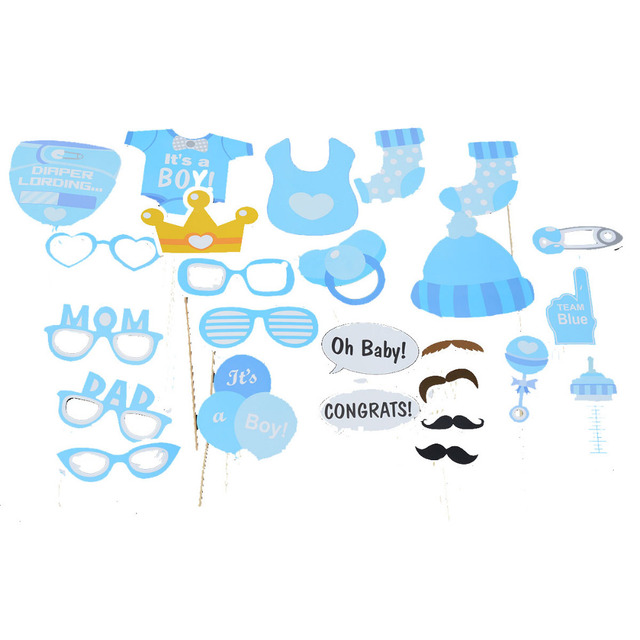 Mustache On A Stick Baby Shower Party Photo Booth Props Photobooth
