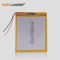 Batería recargable de polímero de litio 306070 3,7 V 2000mAh para PSP, PDA, GPS, DVR, E-Book, tableta, PC, Banco de energía, Wexler Book E6005 356070