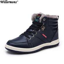 Winter Men Fashion Laarzen Casual Mannen Lederen Mocassin Merk Winter Schoenen Heren Enkellaarsjes Goedkope Cowboy Laarzen(China)