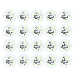 Image 2 - 60pcs Eid Mubarak Stickers In Box Lable Paper Seal Gift Stickers Ramadan Mubarak Eid Decorations Islamic Gifts Muslim