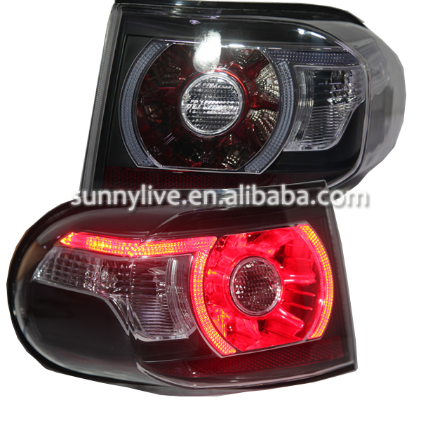 For Toyota FJ Cruiser LED Tail Lights 2007-2013 Clear lens and black housing rear light 1w 3 3v 30v zener diode 24valuesx10pcs 240pcs voltage regulator diode voltage regulator tube diode components