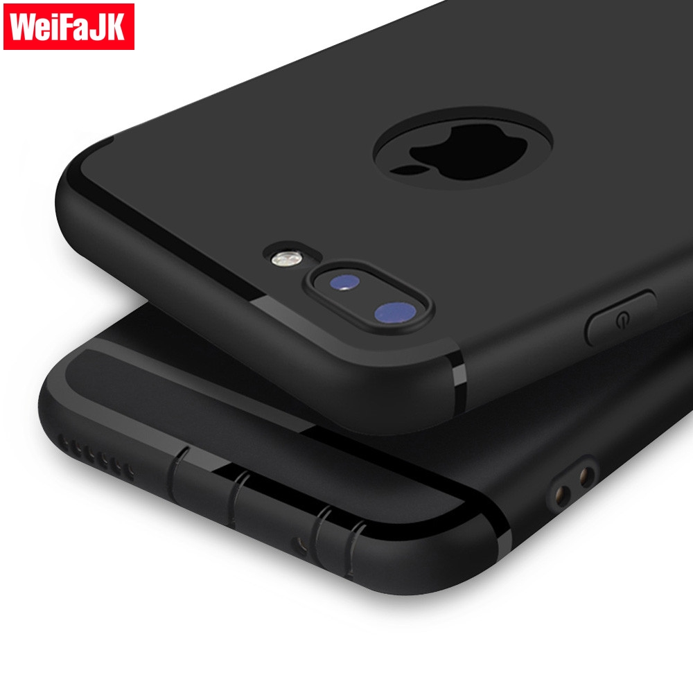 WeiFaJK Soft Matte Full Case for iPhone 7 6 6s 5 5s TPU Caque Silicon Cover for iPhone 7 7 Plus 6 6 Plus X Case Full Capa Fundas