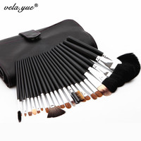 Professional Sable Hair Makeup Brushes 23 Pcs Set High Quality Makeup Tools Kit Free Shipping
