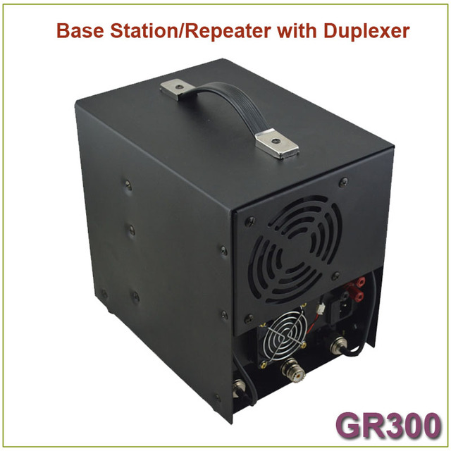 Brand New GR300 Two-way Radio Walkie Talkie  Base Station/ Repeater 350-390MHz 25Watts 8 Channels Repeater with Duplexer 4